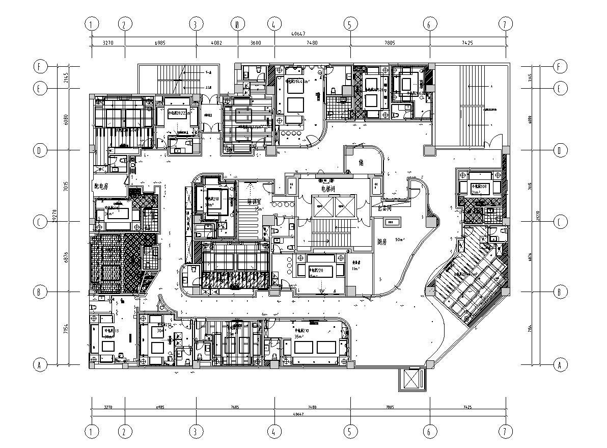 [贵州]力荐!欧式梦幻奢华ktv设计施工图(含效果图)图片