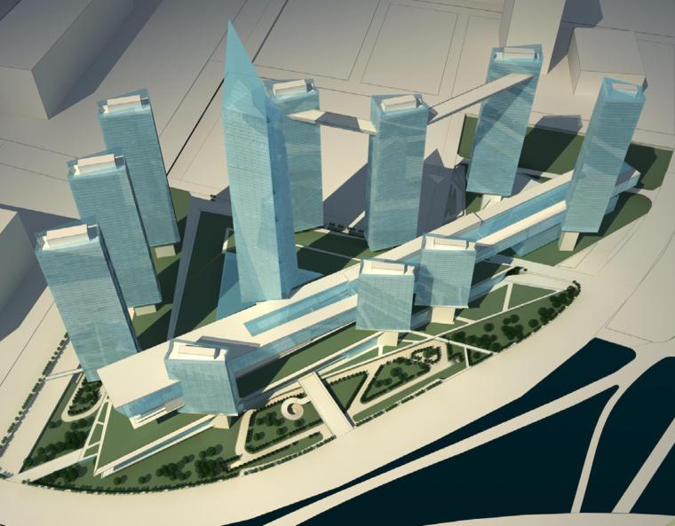 [江苏]南京大型商业广场建筑设计方案文本