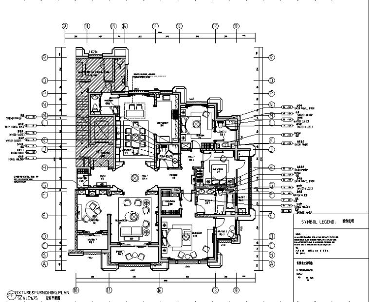[河北]简约欧式9号楼设计样板房设计施工图(附效果图)