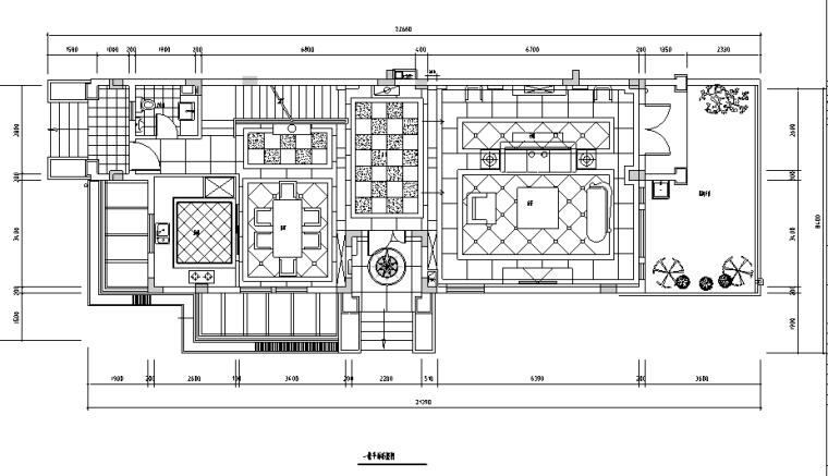 [江苏]古典欧式风格480平米联体别墅设计施工图(附效果图)