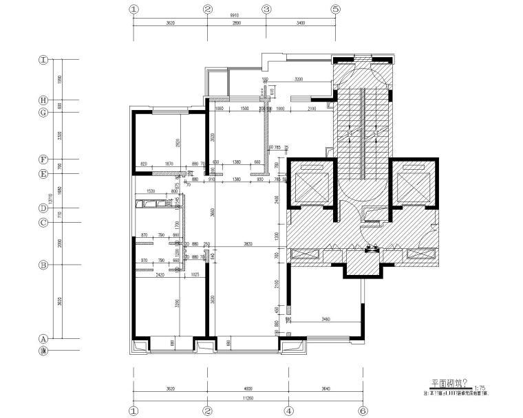 [北京]万科翡翠长安现代中式轻奢样板间设计方案+CAD全套施工图+物料书+效果图_5