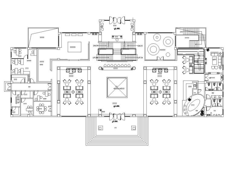 [惠州]现代简约风格大型售楼处装修施工图(附方案效果图)