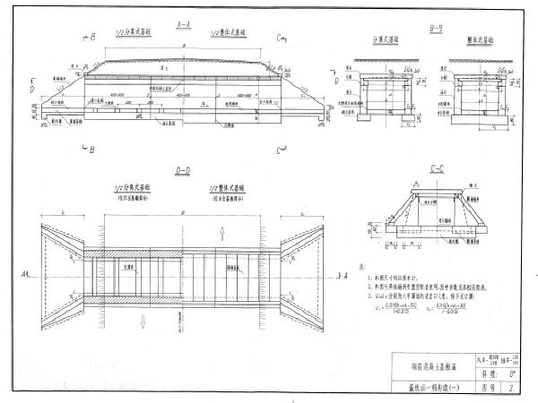 公路桥涵标准图集钢筋混凝土盖板涵