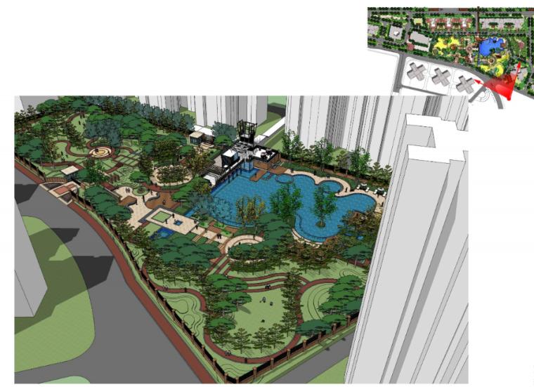 武汉万科城小区景观设计方案_6