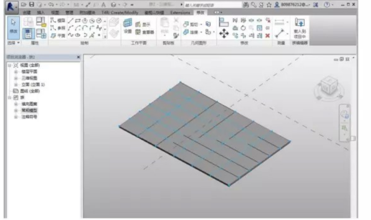 ui尺寸标注软件资料下载-Revit中幕墙嵌板尺寸的统计