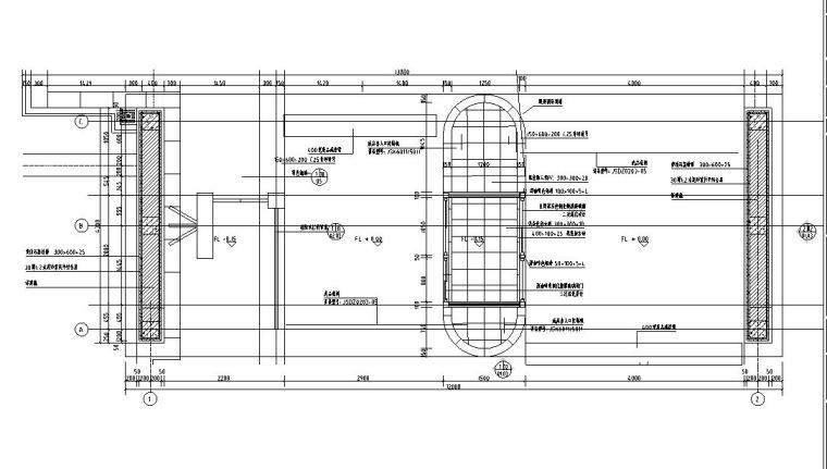[西九]某居住区景观设计全套施工图(包含+60个CAD)-入口平面图