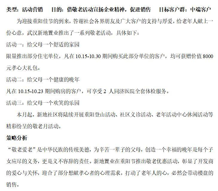 房地产营销推广活动方案集锦(共217页)-新地置业——重阳节敬老活动