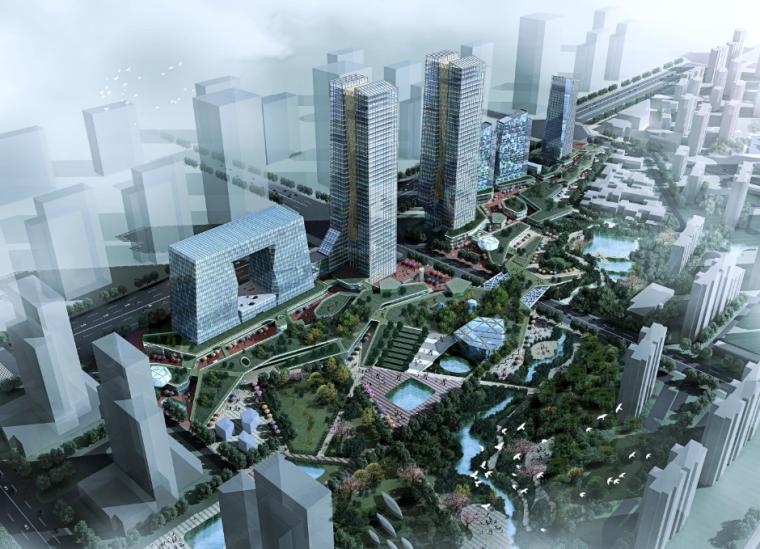 [山西]西安绿地世纪城核心商务区规划设计