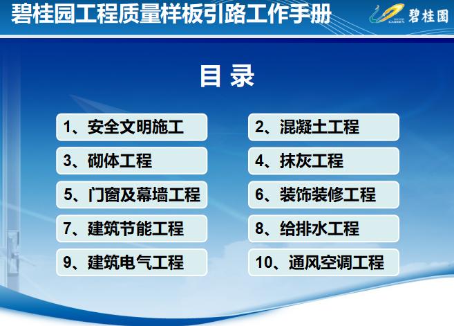 碧桂园集团工程质量样板引路工作手册