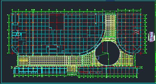 时代广场步行街屋顶钢结构施工图_2