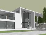 现代生态餐厅建筑方案sketchup模型
