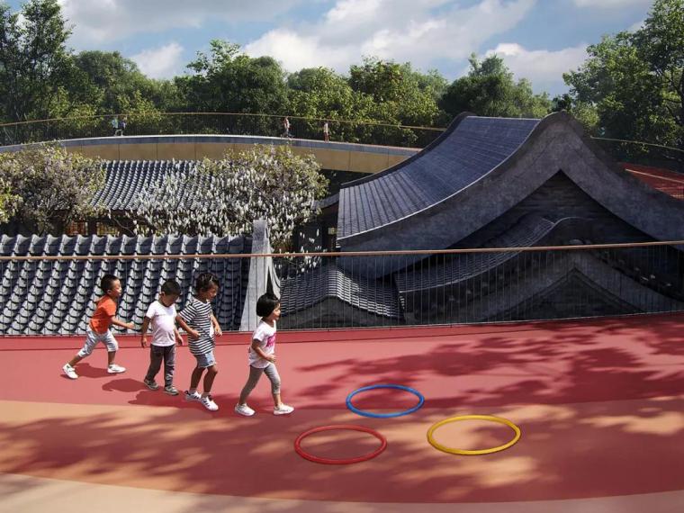 案例分享| 北京四合院幼儿园设计漂浮屋顶