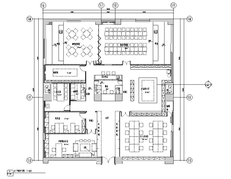 u形厨房装修效果图资料下载-[四川]和沁百家丽咖啡厅设计施工图(附效果图)