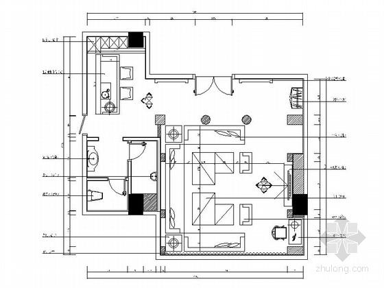 [北京]欧式风格KTV包厢设计施工图