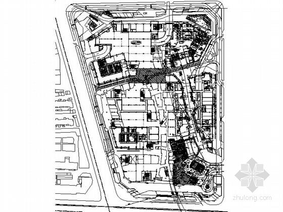 [河北]高层知名现代风格商业建筑各层平面图(甲级设计院)