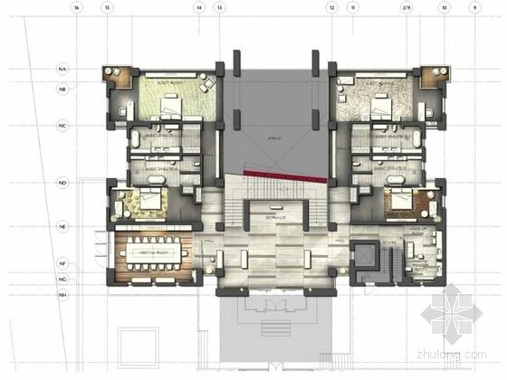 [北京]内中环古典现代混搭两层别墅样板房设计方案