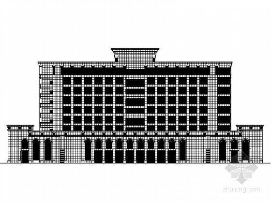 [成都]机场地块8层现代风格商务酒店建筑设计施工图(知名建筑设计院)