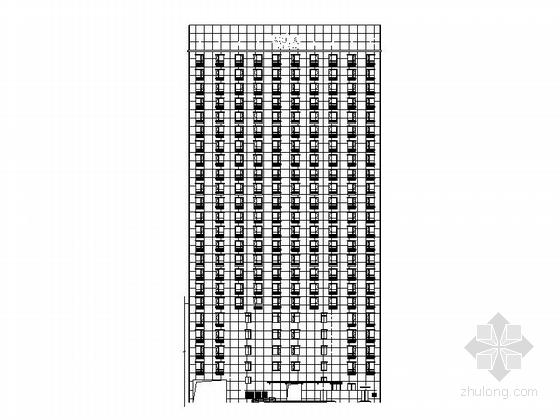 [浙江]现代风格23层酒店式公寓楼建筑施工图