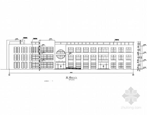 三层框架结构幼儿园教学楼结构图(带门卫室、含建筑图)