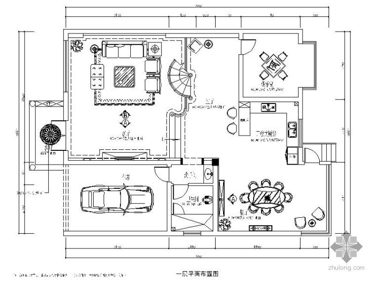 优雅简中式三层别墅室内装修图(含效果)
