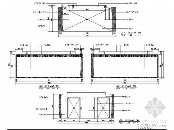 [上海]开发新区现代陈列馆室内装饰设计施工图序厅立面图