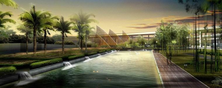 [江苏]苏州市沪宁高速公路西出入口景观规划方案设计(现代风格)-E段效果图