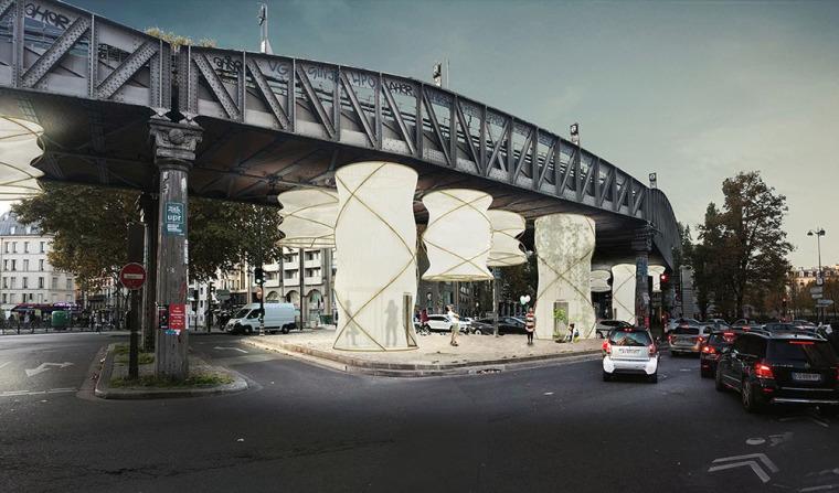 激活桥下的模块化空间装置-1