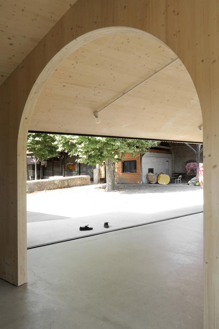 法国简洁木结构的学校食堂扩建-12