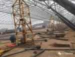 【行业资讯】大跨度煤棚焊接球网架液压顶升施工技术