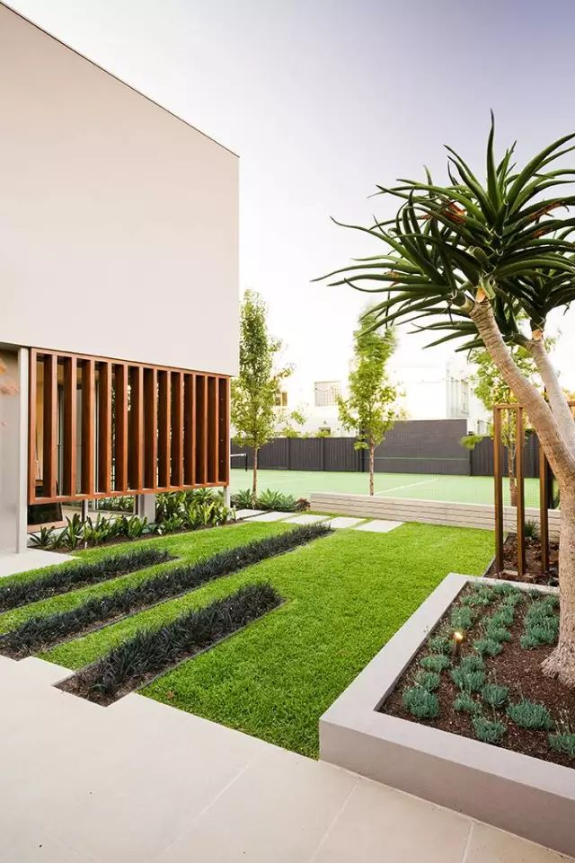赶紧收藏!21个最美现代风格庭院设计案例_170