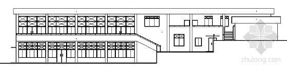 某中学二层学生食堂建筑方案图