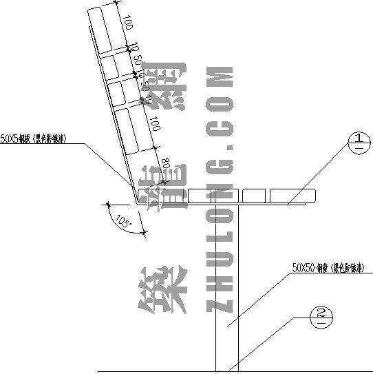 木制座椅施工图