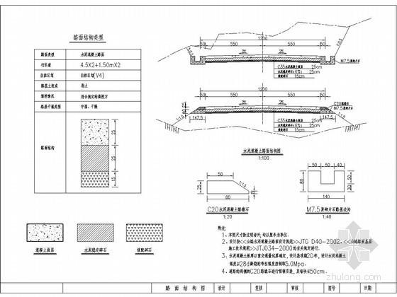 [云南]二级公路路面结构CAD详图
