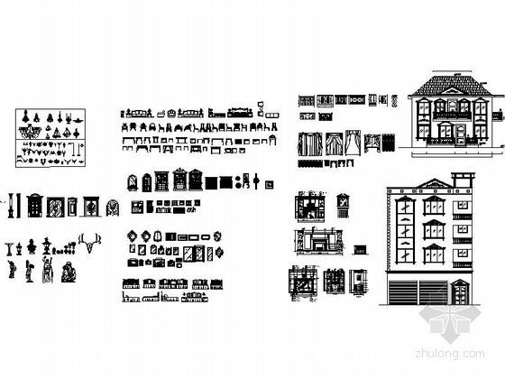 整套欧式家具图块