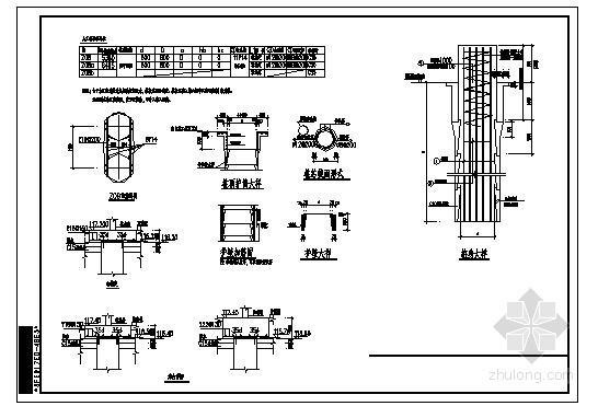 某人工挖孔桩及承台节点构造详图