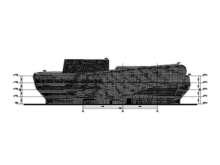 四层弧线型文化中心钢结构玻璃幕墙