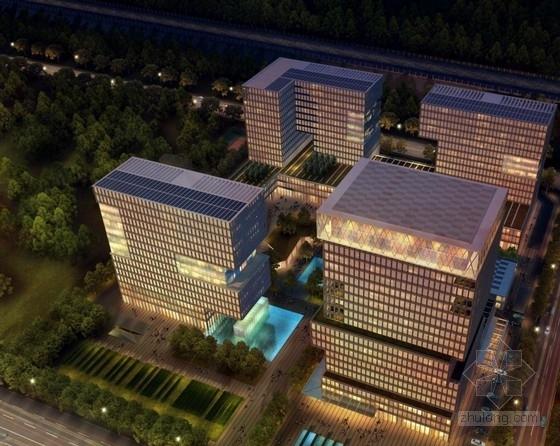[广东]高层半围合式骑楼布局办公大厦建筑设计方案文本