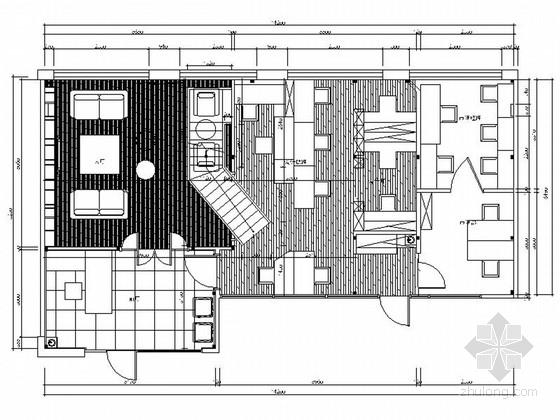 [上海]室内设计公司时尚现代办公室室内装修施工图(含效果)图片