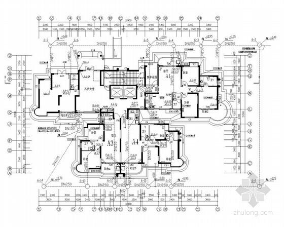 [湖南]高层住宅楼给排水全套图纸(含电气)
