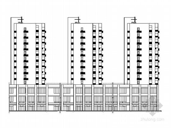 [武汉]现代高层塔式住宅带底商建筑施工图