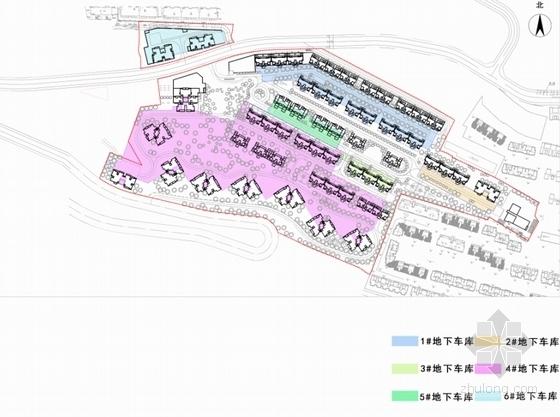 古典风格住宅区规划设计分析图