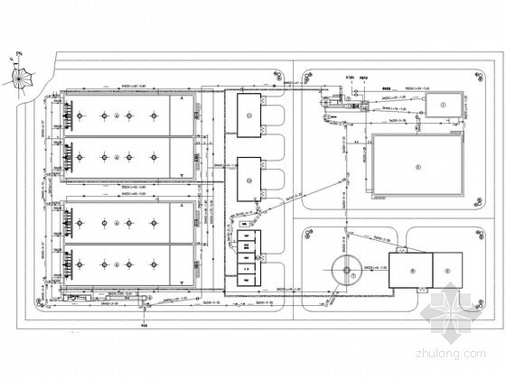 UASB工艺污水处理厂资料下载-[河南]日处理水量15000吨污水处理厂工艺图纸