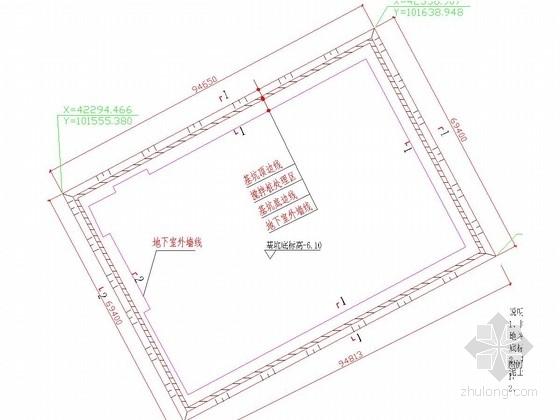 [广东]深基坑搅拌桩水泥土墙加土钉支护施工图(含计算书及预算)