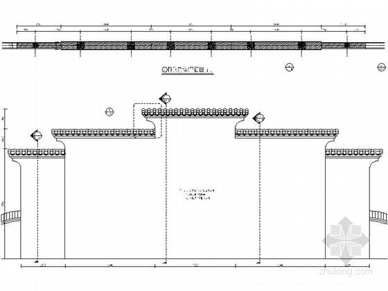 [浙江]现代工业园区景观改造设计施工图-特色景墙详图