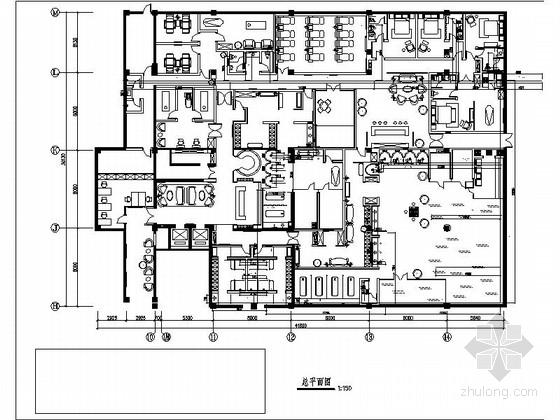 vip休息室平面图资料下载-[河北]邯郸某大酒店水疗中心装饰施工图