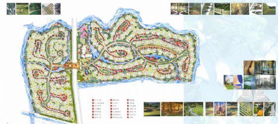 上海某高级别墅区景观概念性设计方案