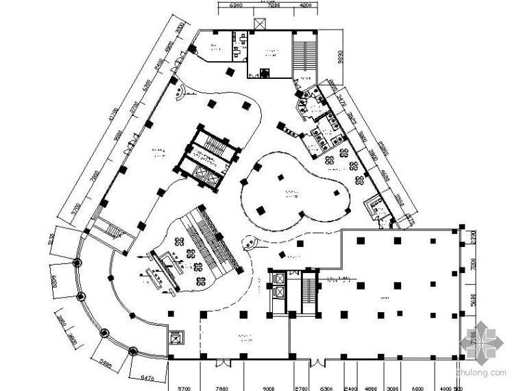 某商场综合大楼平面图