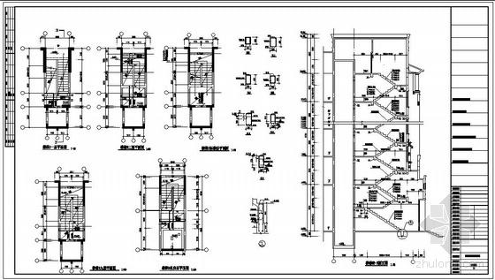 某小高层住宅楼梯节点构造详图