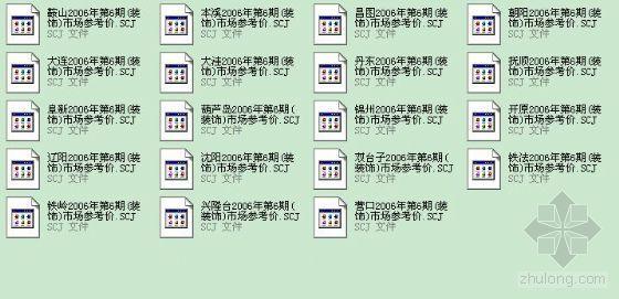 辽宁省2006年第6期(装饰)各地参考价