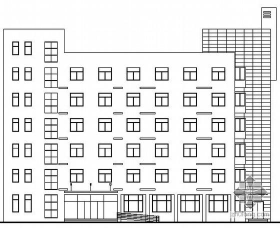 [南京]某工厂六层办公楼建筑施工图(带效果图)